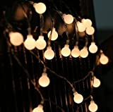 Tetka 80 LED Globe String Lights 9m/30ft USB Plug Fairy Lights Warm White for Party Christmas Wedding Indoor Outdoor Decorative Lights