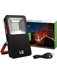 LE Lanterne LED Rechargeable 10W, Projecteur Portable 700lm, Eclairage Polyvalent, 3 Modes de Luminosité, 6000K Eclairage d'urgence, Câble USB Inclus, IP44 Étanche, randonnée, camping, activités en extérieur