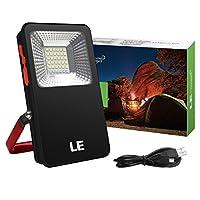 LE Foco LED Portátil 10W USB Recargable 3 modos con luz roja y azul IP44 Función Powerbank