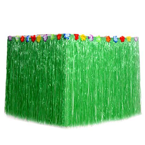 1pc Hawaiianischen Tabelle Rock Gras Tabelle Rock Für Hawaiische Strand-Themed-Dekoration-Partei Oder Geburtstag-Weihnachtsparty (Grün)