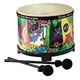 Remo Kids Percussion Floor Tom Drum - Fabric Rain Forest, 10