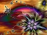 5D Diamant Gemälde Kreuzstich Kits DIY handgefertigt Full Drill Kunstharz Diamant Stickerei Mosaik mit Macht Tools Set Perfekte Geschenke für Home Dekoration, Floral Design, 50x60cm