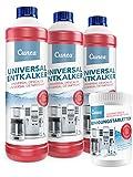 Cunea 3 x 750ml Entkalker und 150x Reinigungstabletten für Kaffeevollautomaten Kaffeemaschine geeignet für Delonghi Saeco Jura Bosch Melitta Siemens Krups Tassimo