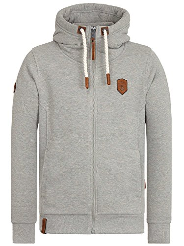 Naketano Male Zipped Jacket Birol IX gun smoke grey melange