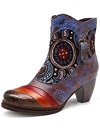 Piel Botas Zapatos Para es Mujer Amazon Y Varios qvxatIxE 26a2cf7d1a3