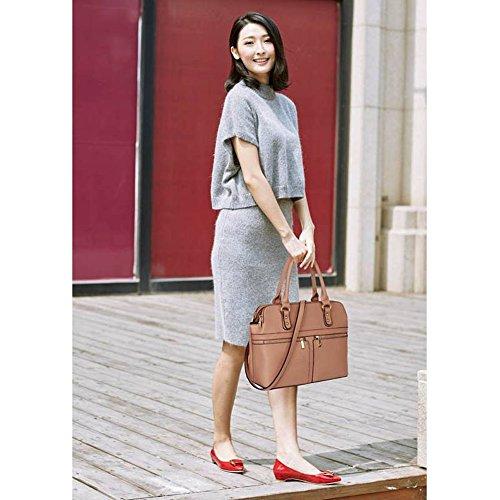Tragetaschen Damen Tasche 3 Berühmtheit Groß 250 250A Stil nackt Fächer LeahWard® Handtaschen MUDE nett ABc5qnxwS