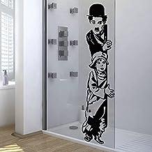 "vinilo decorativo ""Charles Chaplin, The Kid"". Color negro. Medidas: 30x110cm."