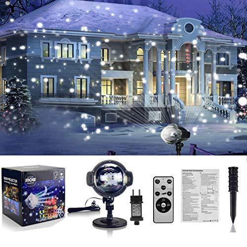 3427ee8f841 Proyector de caída de nieve LED lámpara de proyección de caída de nieve con  iluminación de