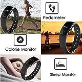 Fitness Tracker Smart Armband mit Pulsmesser, YAMAY® Bluetooth Smart Armbanduhr Sport Schrittzähler Aktivitätstracker mit Herzfrequenzmonitor / Schrittzähler / Kalorienzähler / Schlaf-Monitor, kompatibel mit iPhone IOS und Android-Handy - 5