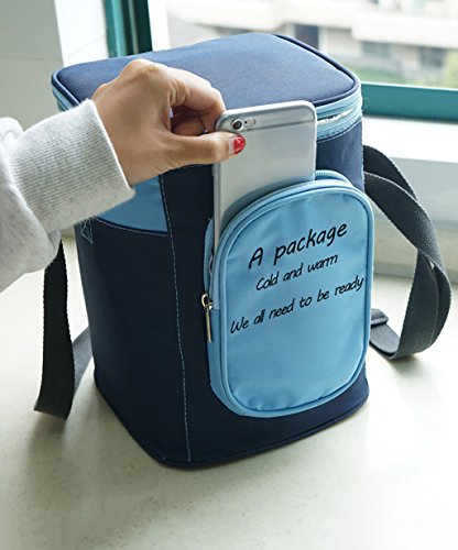 Liqicai borsa fredda da pic nic borsa da pranzo isolata per uomini e donne ( colore : #1 )