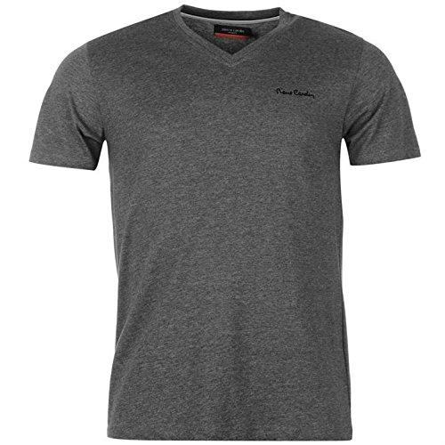 pierre-cardin-herren-v-ausschnitt-t-shirt-kurzarm-freizeit-tee-top-baumwolle-l