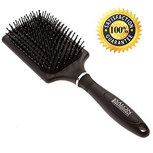 Paddel-salon-pinsel (Paddel Haar Pinsel für Föhnen, Glätten & Glätten. Salon Qualität Paddle Haarbürste für mittlere oder langes Haar. 100% Zufriedenheitsgarantie.)