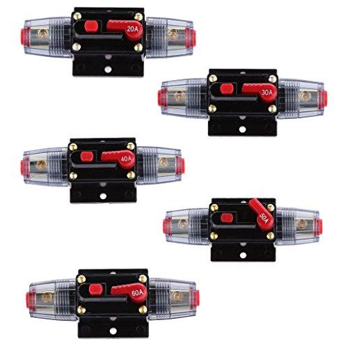 Sharplace Inline Auto Leistungsschalter Manuellen Circuit Breaker Reset Schalter Audio Sicherung 12V-24V - 50A -