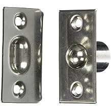 Puerta del armario ajuste tono plateado juego de cierre de bolas de acero inoxidable