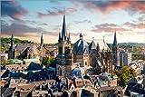 Posterlounge Leinwandbild 30 x 20 cm: Aachen Panorama von euregiophoto - fertiges Wandbild, Bild auf Keilrahmen, Fertigbild auf echter Leinwand, Leinwanddruck