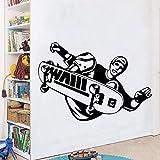yaonuli Creative Planche à roulettes Auto-adhésif Vinyle garçon Chambre décalque Vinyle Art décalque Salon décoration Mur Autocollant 28x40 cm