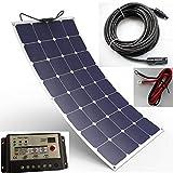 Spark - Panneau solaire souple durable 100W composé de cellules Back-Contact - Kit de chargement pour camping-car, caravane, bateau ou yacht...