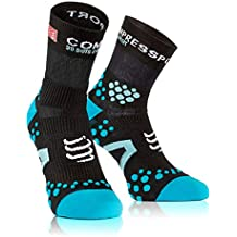 Compressport SHT2BA - Calcetines unisex, color blanco/azul