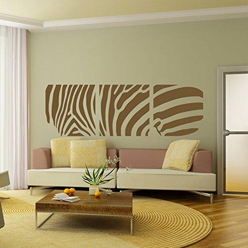wandaufkleber 3d schlafzimmer Zebra Wall Decal Vinyl Sticker Home Arts Animal Wall Decals Decor Africa Pattern(30