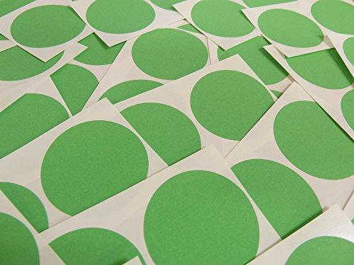Minilabel - Puntos adhesivos (50 unidades, diámetro 50 mm), color verde y blanco