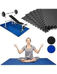 6-16x Puzzlematte Bodenschutzmatten Fitnessmatte Unterlegmatte Spielmatte Stecksystem Modellauswahl Farbauswahl Blau oder Schwarz SET