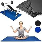 Puzzlematte 6er Set Bodenmatte Fitnessmatte 183,5 x 123,5cm Sportmatte Unterlegmatte Spielmatte Stecksystem Schwarz - Farbauswahl