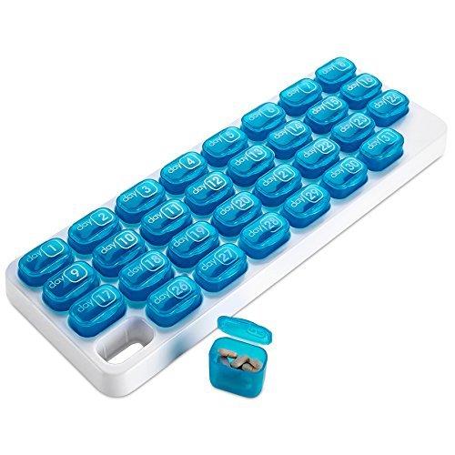 31 Herausnehmbare Medikamentenbehälter, Monatliche Pillendose von MEDca