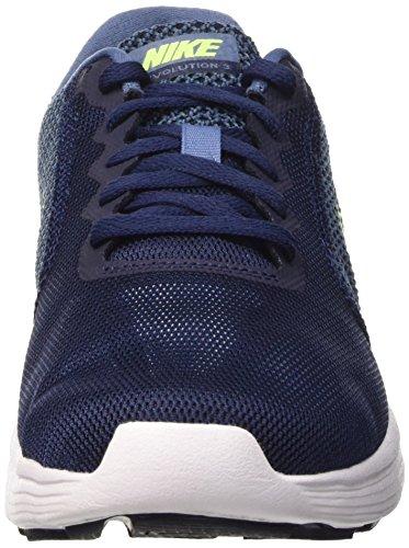 Nike Revolution 3, Chaussures De Course À Pied Homme Bleu (ocean Fog / Volt-obsidian-white)