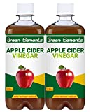 Green Elements - Apple Cider Vinegar, Raw, Unprocessed and Unrefined with Mother Vinegar, 500ml (Pack of 2)