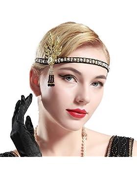 ArtiDeco 1920 Diadema con Cuentas Cinta para el Pelo con Cristal Vintage Años 20 Flapper Pelo Banda Disfraz Gatsby...