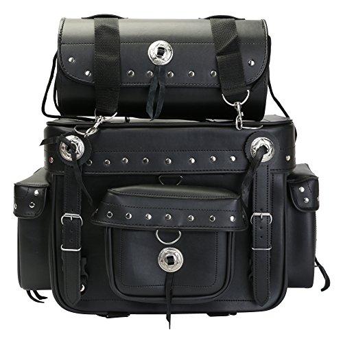 Turin - Motorrad Gepäcktasche/Tour Bag & Werkzeugrolle - Leder