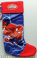 Marvel Spider Man bellissima calza in peluche imbottito di alta qualità con personaggi Spider Man. Dimensione 18 x 49 h cm Interno completamente foderato