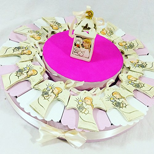 Bomboniere comunione battesimo cresima con torta bomboniera spedizione gratis kkk (torta bomboniera comunione tau per femminuccia)