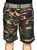 Casual Camouflage Shorts with Belt New