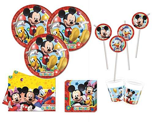Spielzeug Clubhaus Mickey-mouse (XXL 71 Teile Disney Micky Maus Party Deko Set)