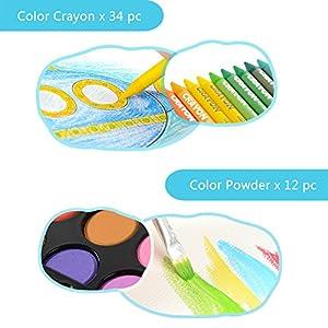 51JMMm3YRBL. SS300  - LIVEHITOP-109-PCS-Artstico-Set-de-Pintura-y-Dibujo-Profesional-Caso-Kit-Colores-Lpices-Acuarela-Rotuladores-Oleo-Pastel-Regalo-para-Nios-Estudiante-Adulto