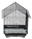 YML a1114mblk House Top Style klein Vogelkäfig für Sittiche, 27,9x 22,9x 40,6cm