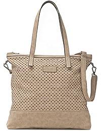 Damen Handtasche - XXL Shopper mit abnehmbarem Schultergurt - DIN A4 fähiges Format 40,5 x 40,5 x 2,5 cm - Umhängetasche von MIYA BLOOM