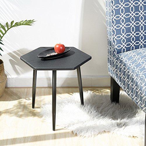 Moderna mesa fanilife final mesa auxiliar mesa de café de madera ocasional diamante soporte escritorio para Sala de estar