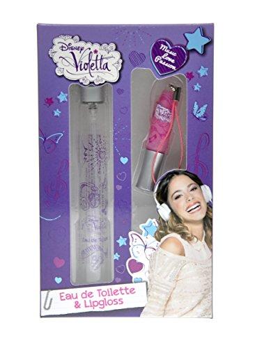 Disney Violetta Set Eau de Toilette 15 ml + Gloss 60 g