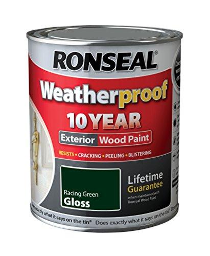 Ronseal Wetter 10 Jahre Holzfassadenfarbe Gloss 750ml Racing Green