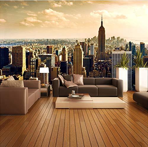 VVNASD 3D Aufkleber Tapete Dekorationen Wandbilder Wand Wohnzimmer Sofa Background City Building Home Decor Kunst Kinder Schlafzimmer (W) 300X(H) 210Cm (Riesen-wand-abziehbilder Für Wohnzimmer)