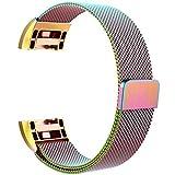 Omicton Fitbit Laden 2Strap Bands, Ersatz Weich TPU Sport Armbanduhr Band Wasserfest Armband Riemen Haken und Klettverschluss Verstellbarer Verschluss Armbänder für Fitbit Laden 2Smart Watch