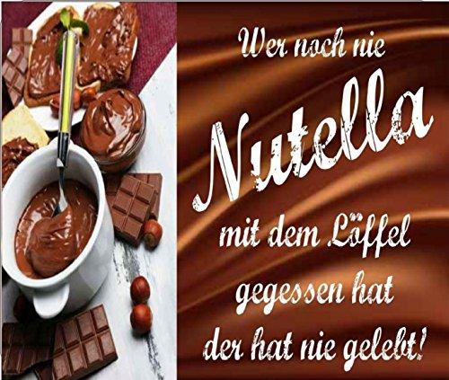 """Preisvergleich Produktbild Mousepad / Mauspad """" Wer noch nie Nutella mit dem Löffel gegessen hat ... """" Mousepad - lustige mousepads - Geschenkartikel - Computerzubehör"""