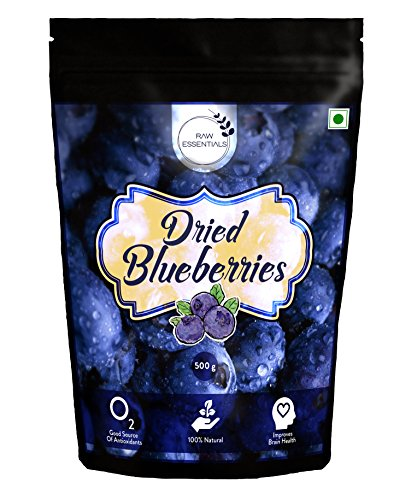 Raw Essentials Premium Whole Dried Blueberries, 500g