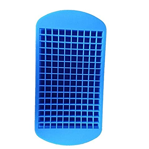 Ice Cubes Mould, 2 Stück Easy-Release Silikon Eis Würfel Trays, gefrorene Rechteck Silikon Tray Mould , blue