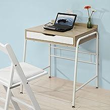 SoBuy® Mesa de escritorio, Mesa de ordenador con un cajón,L 64 x H 78 cm,FWT33-WN,ES