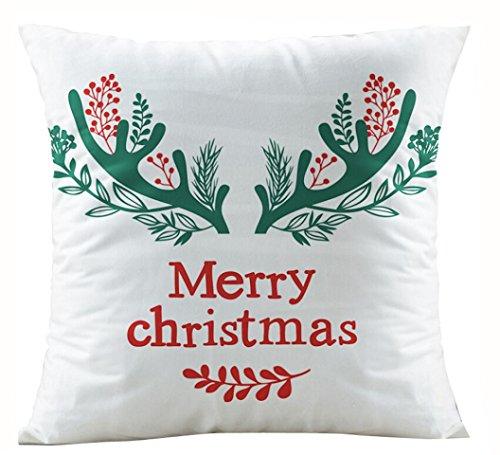 Charberry Père Noël Taie d'oreiller Canapé Taille Throw Housse de coussin, Tissu super doux, I, Size: 45cm*45cm