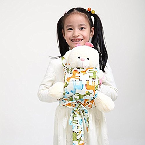 Baby Doll Carrier Mei Tai Sling Toy pour enfants Enfant enfant en bas d'enfant Dos, Mini-porteuse, Hibou, Dot, Fleur, Kaléidoscope (Horse) JOBEBE
