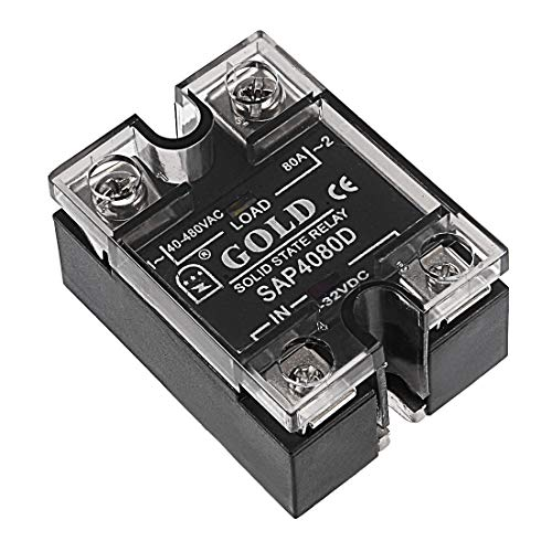 ZCHXD SAP4080D 3-32VDC to 40-480VAC 80A Single Phase Solid State Relay Module DC to AC -